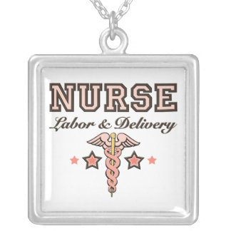 Labor and Delivery Nurse Caduceus Necklace