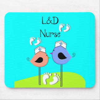 Labor and Delivery Nurse Nurse Birds Mousepads