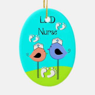 Labor and Delivery Nurse Nurse Birds Christmas Ornament