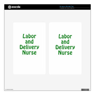 Labor and Delivery Nurse Kindle Fire Decals