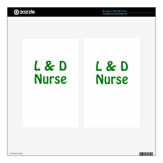 Labor and Delivery Nurse Kindle Fire Decal