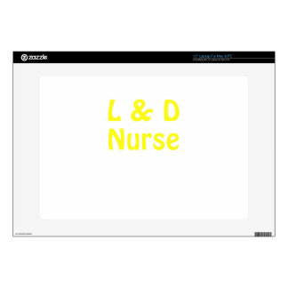 """Labor and Delivery Nurse 15"""" Laptop Decals"""