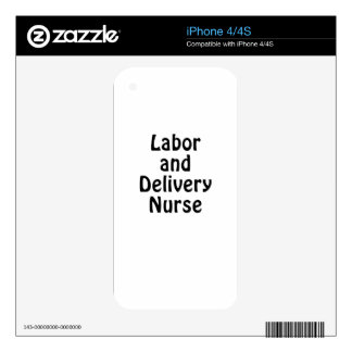 Labor and Delivery Nurse Skin For iPhone 4