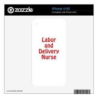 Labor and Delivery Nurse Skins For The iPhone 4S