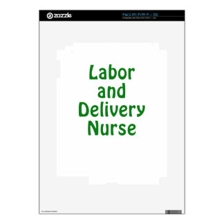 Labor and Delivery Nurse Decals For iPad 2