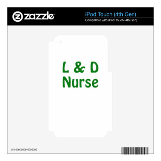 Labor and Delivery Nurse Decal For iPod Touch 4G