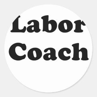 Labor Coach Classic Round Sticker