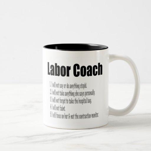 Labor Coach Coffee Mugs
