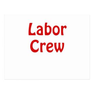 Labor Crew Postcard