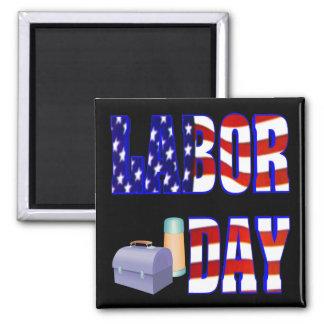 Labor Day 2 Inch Square Magnet