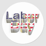 Labor Day - 6 September Classic Round Sticker