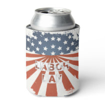 Labor Day American Flag Can Cooler