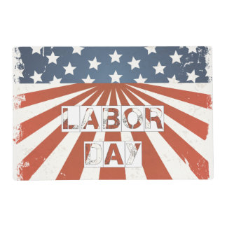 Labor Day American Flag Placemat
