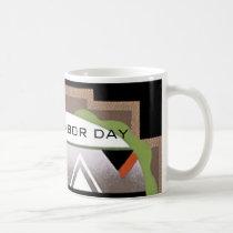 Labor Day Art Deco Coffee Mug by Janz