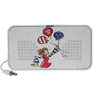Labor Day Balloon Lady Travel Speaker