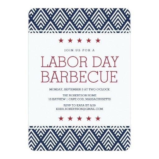 Labor Day Barbecue Party Invitation | Zazzle