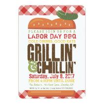 Labor Day BBQ, Backyard Barbecue, Holiday BBQ Invitation