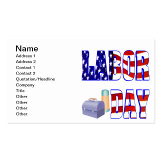 Labor Day Business Cards