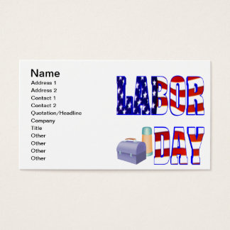 Labor Day Business Card