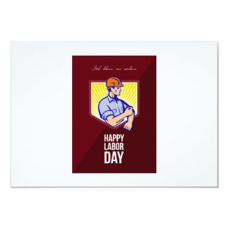 Labor Day Celebration Greeting Card Poster 9 Cm X 13 Cm Invitation Card