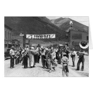 Labor Day Clowns, 1940 Card