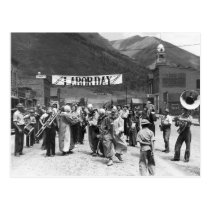 Labor Day Clowns, 1940 Postcard