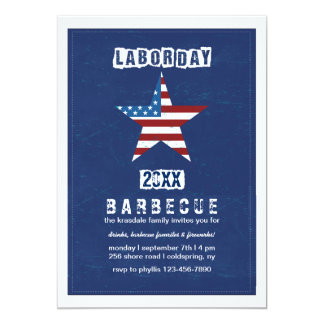 Labor Day Colors Invitation
