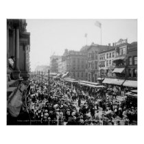 Labor Day Crowd, Buffalo: 1900 Poster