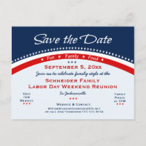 Labor Day Family Reunion, Party Save the Date Announcement Postcard