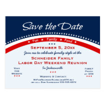 Labor Day Family Reunion, Party Save the Date Postcard