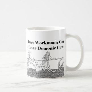 Labor Day Funny Workman's Comp Farm Drawing Mugs