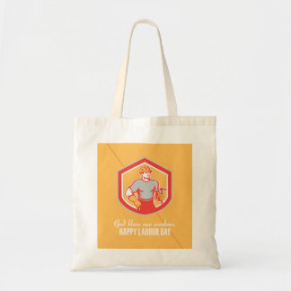 Labor Day Greeting Card Builder Carpenter Hammer S Tote Bag