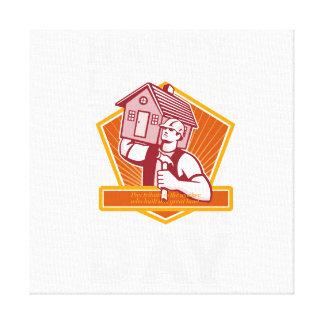 Labor Day Greeting Card Builder Hammer House Shiel Canvas Print