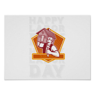 Labor Day Greeting Card Builder Hammer House Shiel Poster