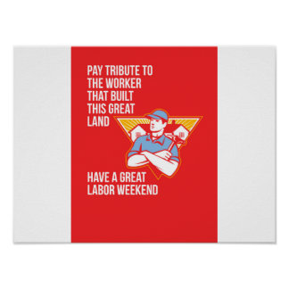 Labor Day Greeting Card Builder Hammer Houses Shie Poster