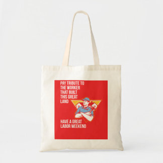Labor Day Greeting Card Builder Hammer Houses Shie Tote Bag