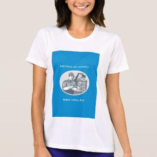 Labor Day Greeting Card Builder Houseframe Crane T-shirts