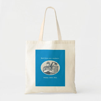Labor Day Greeting Card Builder Houseframe Crane Tote Bag