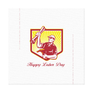 Labor Day Greeting Card Builder Plan Hammer Canvas Print