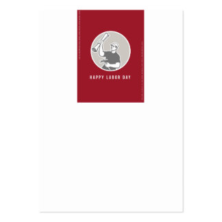 Labor Day Greeting Card Builder Plan Hammer Circle Large Business Card