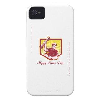 Labor Day Greeting Card Builder Plan Hammer iPhone 4 Covers