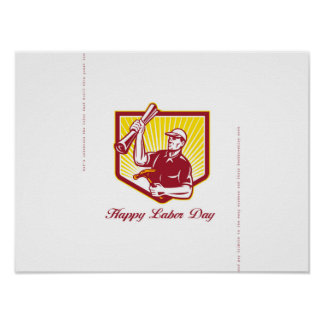Labor Day Greeting Card Builder Plan Hammer Poster