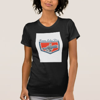 Labor Day Greeting Card Construction Worker I-Beam T Shirt