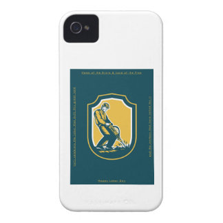 Labor Day Greeting Card Construction Worker JackHa iPhone 4 Case-Mate Cases