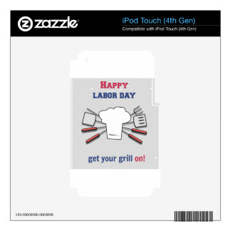Labor Day Holiday Skin For iPod Touch 4G
