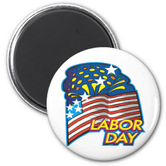 Labor Day 2 Inch Round Magnet