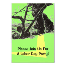 Labor Day Party Invitations Hard Work Farming Farm
