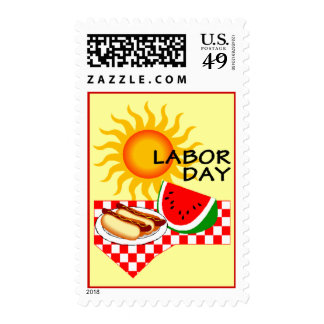 Labor Day Picnic Stamps GR8For Mailing Invitations