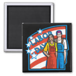 Labor Day Refrigerator Magnet