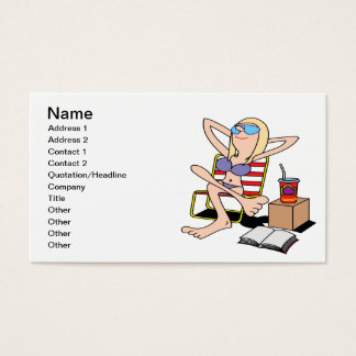 Labor Day Relaxation Business Card